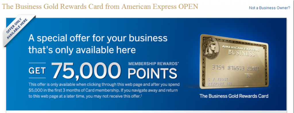 point signup bonus for spending 5000 on the business gold rewards card from american express open dansdealscom - Business Gold Rewards Card
