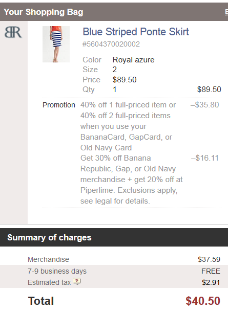 HURRY! Stackable 40% And 30% Coupons At Banana Republic